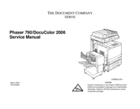 Manual de servicio Xerox DocuColor 2006