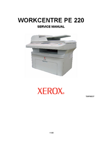 Manual de servicio Xerox WORKCENTRE PE 220