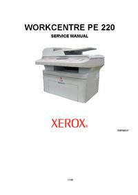 Manual de serviço Xerox WORKCENTRE PE 220