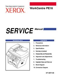 Instrukcja serwisowa Xerox WorkCentre PE16