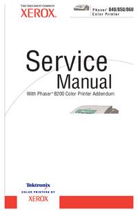 Manuale di servizio Xerox Phaser 850