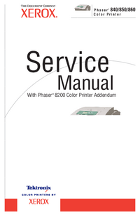 manuel de réparation Xerox Phaser 860