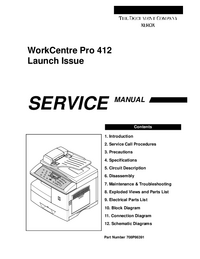 Service Manual Xerox WorkCentre Pro 412.
