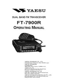 Manual del usuario Yaesu FT-7900R