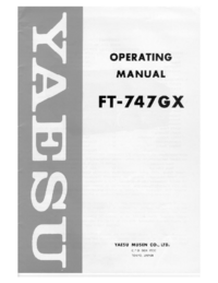 Manual do Usuário, Cirquit Diagrama Yaesu FT-747GX