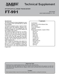 Manuale di servizio Yaesu FT-991