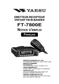 Bedienungsanleitung Yaesu FT-7800E
