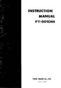 Service- und Bedienungsanleitung Yaesu FT-901DM