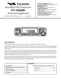 Manuale di servizio Yaesu FT-7800R