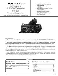 Servicehandboek Yaesu FT 897