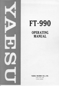 Gebruikershandleiding Yaesu FT-990
