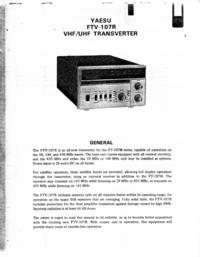 Manual de serviço Yaesu FTV-107R
