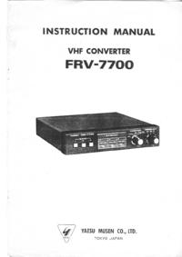 Manual de servicio Yaesu FRV-7700