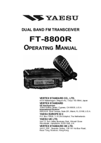 Manual del usuario Yaesu FT-8800R