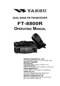User Manual Yaesu FT-8800R