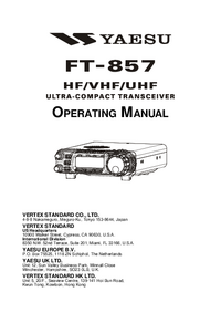 User Manual Yaesu FT-857