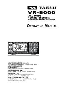Manuale d'uso Yaesu VR-5000