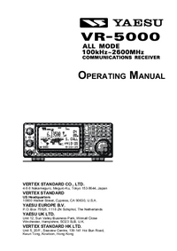 User Manual Yaesu VR-5000