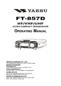 User Manual Yaesu FT-857D