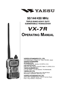 User Manual Yaesu VX-7R