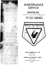 Serviceanleitung Yaesu FT-221
