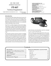 Instrukcja serwisowa Yaesu FT-817