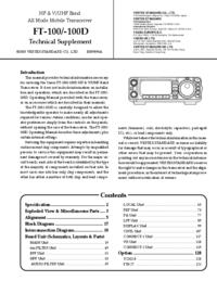 manuel de réparation Yaesu FT-100D
