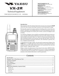 Instrukcja serwisowa Yaesu VX-2R