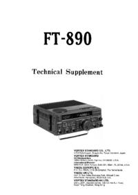 Manual de serviço Yaesu FT-890