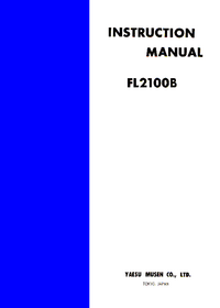 Service and User Manual Yaesu FL2100B