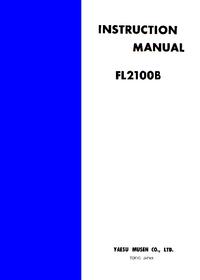 Service-en gebruikershandleiding Yaesu FL2100B