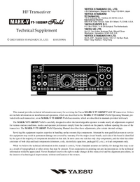 Manual de servicio Yaesu MARK-V FT-1000MP