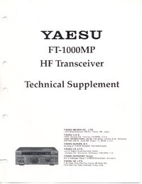Manuale di servizio Supplemento Yaesu FT-1000MP