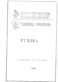 User Manual Yaesu FT 505 s
