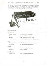 User Manual with schematics Yaesu SC-1