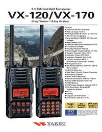Hoja de datos Yaesu VX-170