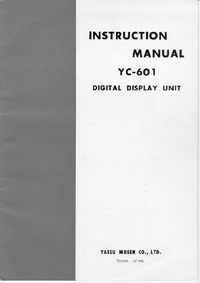 Service and User Manual Yaesu YC-601