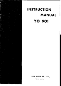 Service and User Manual Yaesu Yo-901
