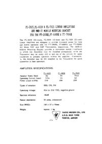 Servizio e manuale utente Yaesu FL-6020