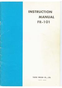 Serwis i User Manual Yaesu FR-101