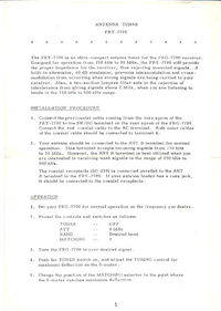 User Manual Yaesu FRT-7700