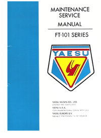 Service Manual Yaesu FT-101