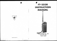 User Manual with schematics Yaesu FT-203R
