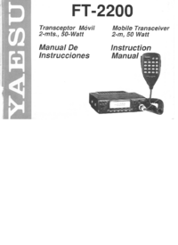 User Manual Yaesu FT-2200