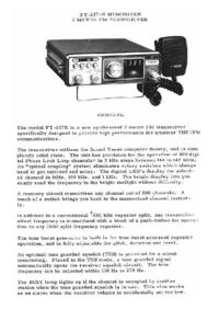 Manual de servicio Yaesu FT-227R