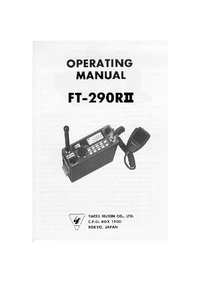 User Manual with schematics Yaesu Ft-290RII