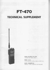 Manual de serviço Yaesu FT-470