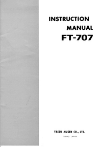 Serwis i User Manual Yaesu FT-707