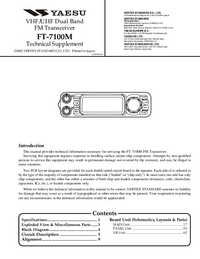 Руководство по техническому обслуживанию Yaesu FT-7100M