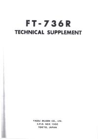 manuel de réparation Yaesu FT-736R